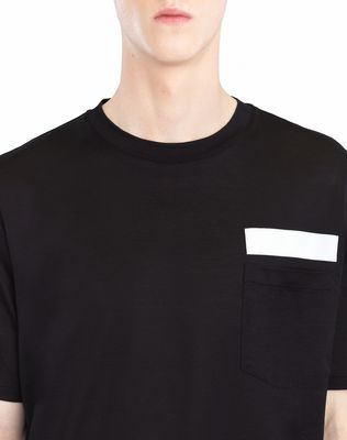 LANVIN T-SHIRT WITH REFLECTIVE STRIP Polos & T-Shirts U a