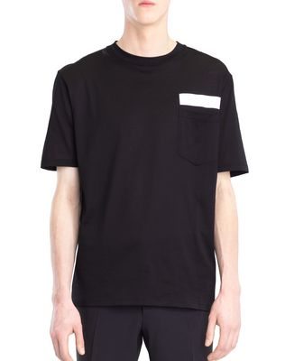 LANVIN T-SHIRT WITH REFLECTIVE STRIP Polos & T-Shirts U f