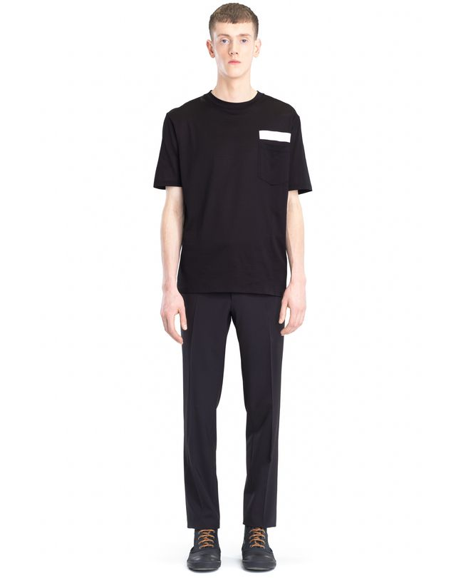 LANVIN T-SHIRT WITH REFLECTIVE STRIP Polos & T-Shirts U r