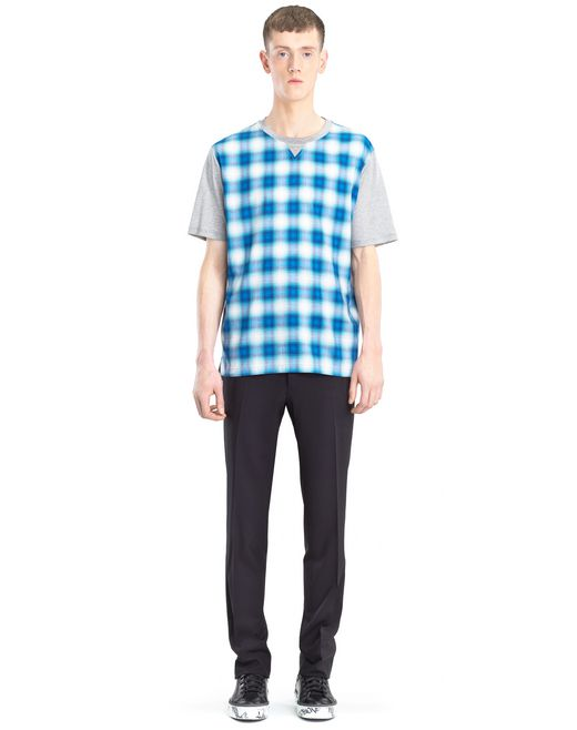 lanvin checkered t-shirt men