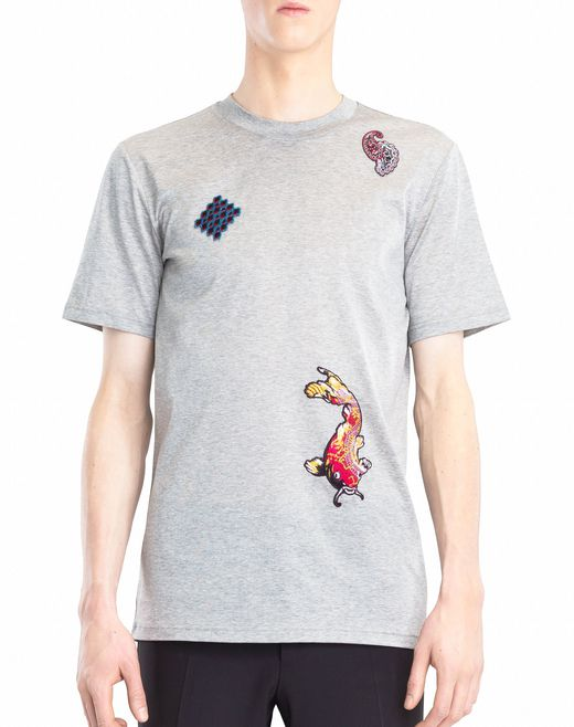 lanvin embroidered t-shirt men