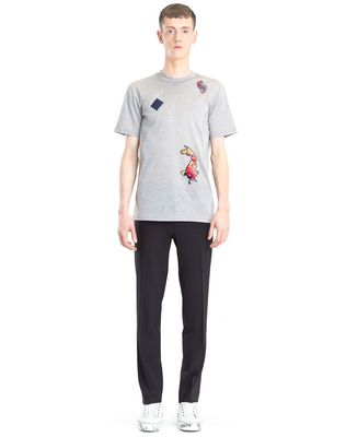 LANVIN EMBROIDERED T-SHIRT Polos & T-Shirts U r
