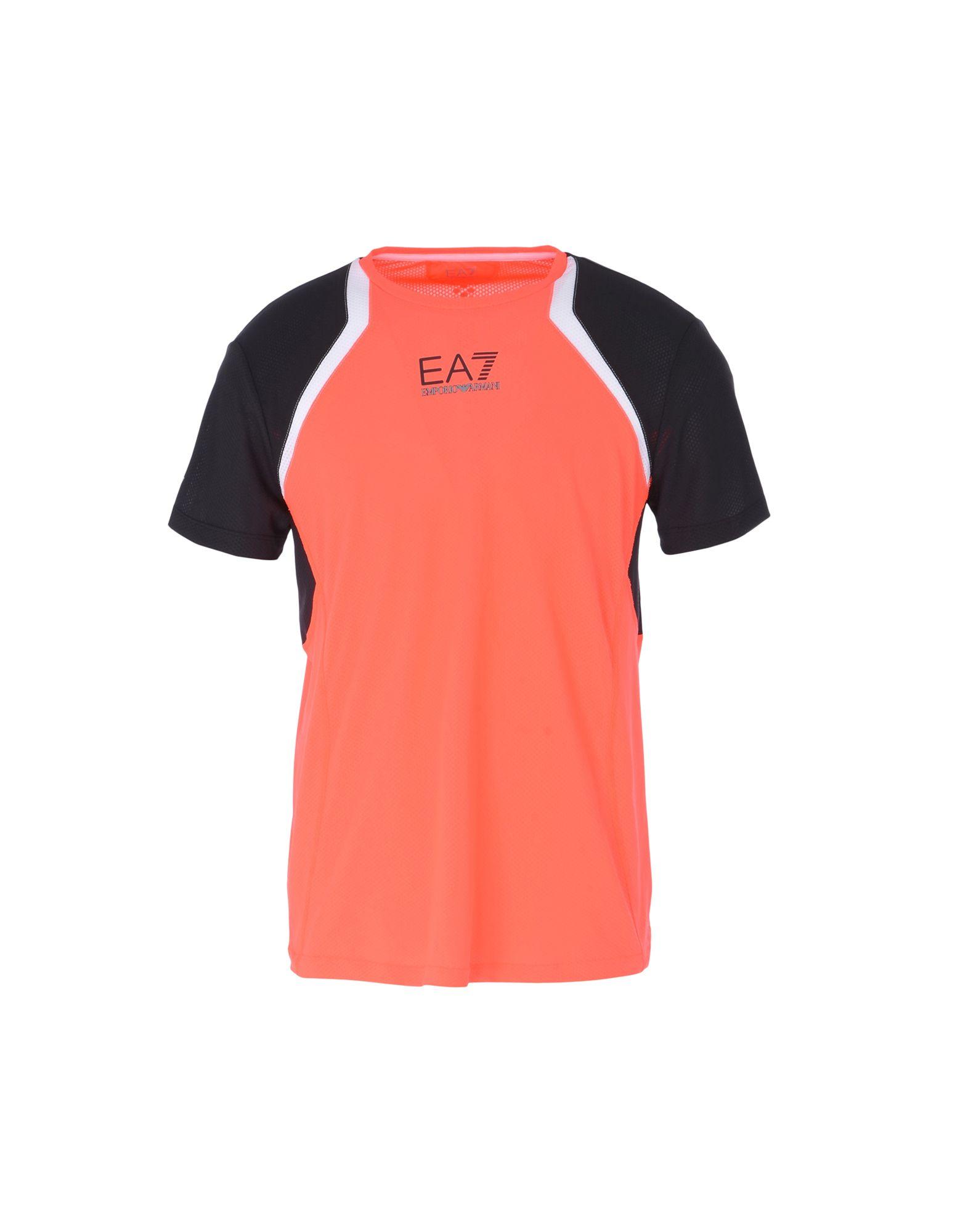 《送料無料》EA7 メンズ T シャツ コーラル M ポリエステル 100% VENTUS 7 TOP PERFORMANCE TEE SS