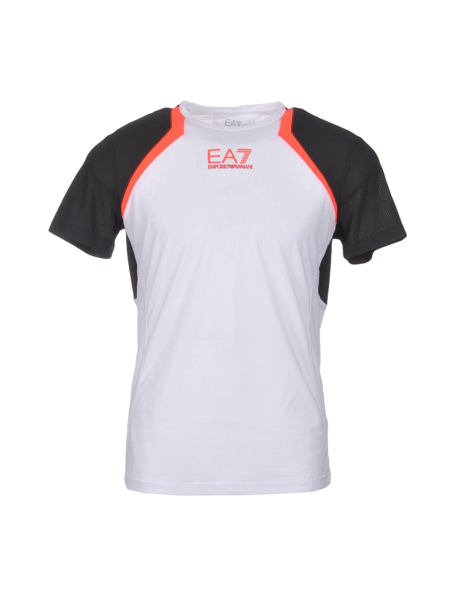《送料無料》EA7 メンズ T シャツ ホワイト S ポリエステル 100% VENTUS 7 TOP PERFORMANCE TEE SS