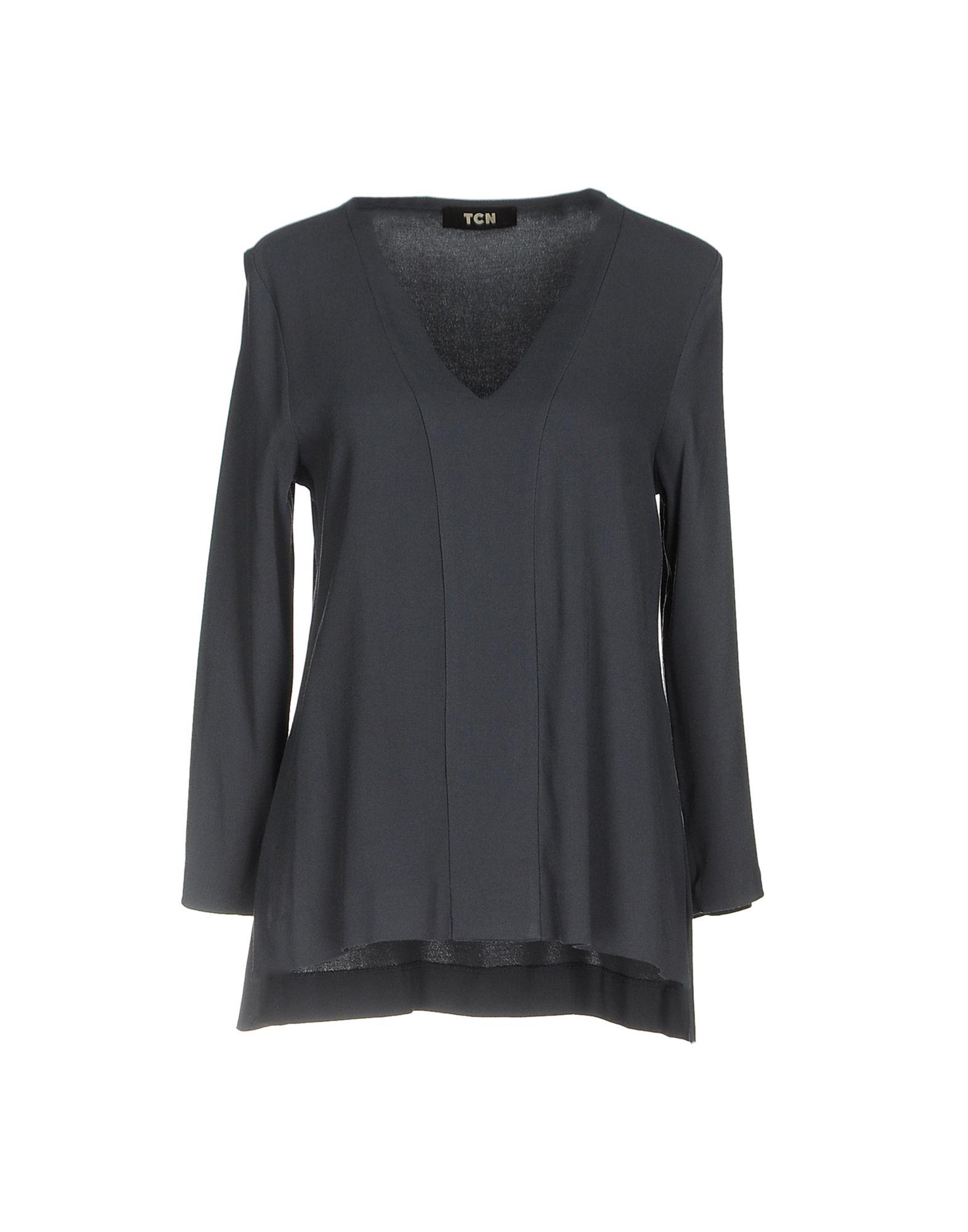 TOTON COMELLA - TCN Damen Bluse Farbe Taubenblau Größe 6