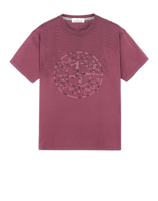 STONE ISLAND Short sleeve t-shirt 2NS85 RUST PIN