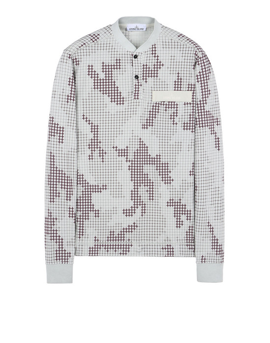 STONE ISLAND Long sleeve t-shirt 228E1 SI CHECK GRID CAMO