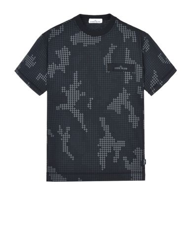 STONE ISLAND Short sleeve t-shirt 230E1 SI CHECK GRID CAMO