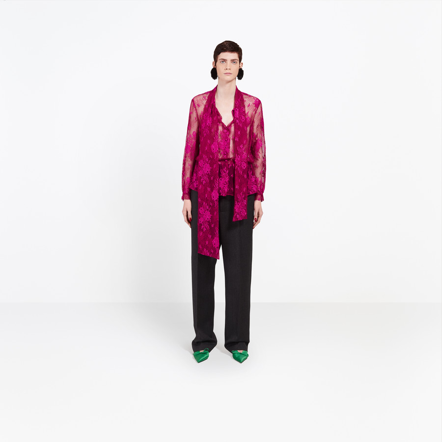 BALENCIAGA Long Lavalliere Top Top Woman f
