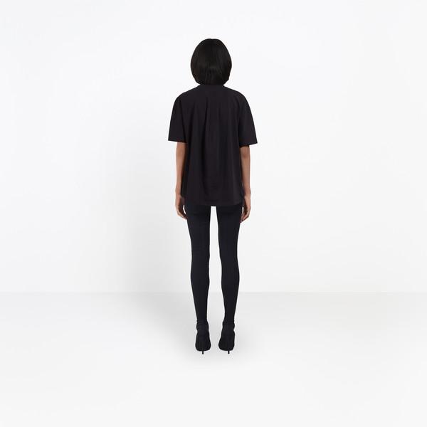 BALENCIAGA JERSEY Woman Cocoon Short Sleeves T-Shirt h