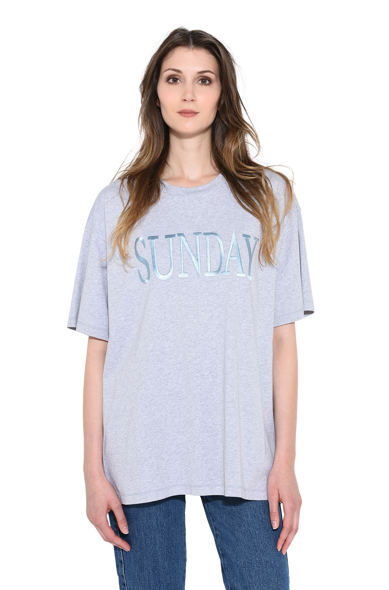ALBERTA FERRETTI T-shirt Woman SUNDAY IN GREY r