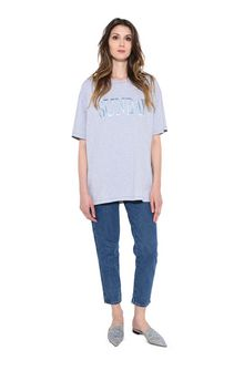 ALBERTA FERRETTI SUNDAY IN GREY T-shirt Donna f