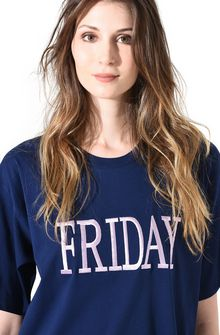ALBERTA FERRETTI FRIDAY IN BLUE T-Shirt D a