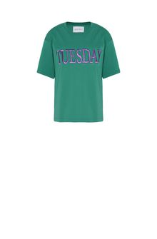 ALBERTA FERRETTI TUESDAY IN GREEN T-shirt Woman e