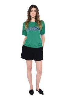 ALBERTA FERRETTI TUESDAY IN GREEN T-shirt Woman f