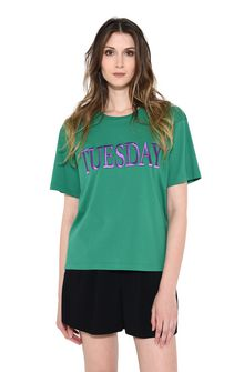 ALBERTA FERRETTI TUESDAY IN GREEN T-shirt Woman r