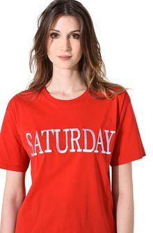ALBERTA FERRETTI SATURDAY IN RED T-shirt D a