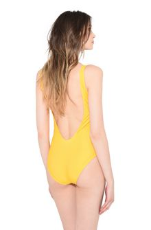 ALBERTA FERRETTI THURSDAY IN YELLOW SWIMMING COSTUME D e