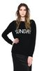 ALBERTA FERRETTI SUNDAY IN BLACK & WHITE KNITWEAR Woman r