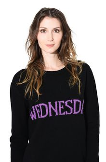 ALBERTA FERRETTI WEDNESDAY IN BLACK & VIOLET KNITWEAR D a