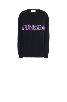 ALBERTA FERRETTI WEDNESDAY IN BLACK & VIOLET KNITWEAR Woman e