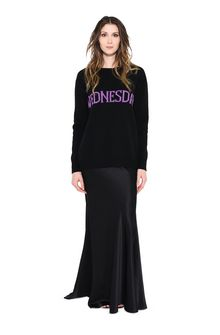 ALBERTA FERRETTI WEDNESDAY IN BLACK & VIOLET KNITWEAR Woman f