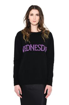 ALBERTA FERRETTI WEDNESDAY IN BLACK & VIOLET KNITWEAR Woman r