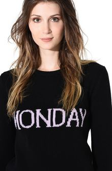 ALBERTA FERRETTI MONDAY IN BLACK & PINK KNITWEAR D a
