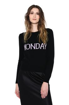 ALBERTA FERRETTI MONDAY IN BLACK & PINK KNITWEAR Woman r