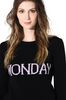 ALBERTA FERRETTI MONDAY IN BLACK & PINK KNITWEAR Woman a