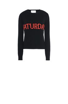 ALBERTA FERRETTI SATURDAY IN BLACK & RED KNITWEAR Woman e