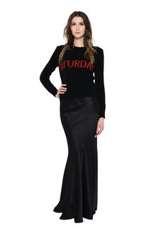ALBERTA FERRETTI SATURDAY IN BLACK & RED KNITWEAR Woman f