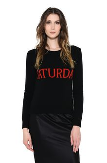 ALBERTA FERRETTI SATURDAY IN BLACK & RED KNITWEAR Woman r