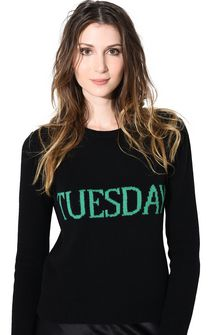 ALBERTA FERRETTI TUESDAY IN BLACK & GREEN KNITWEAR D a