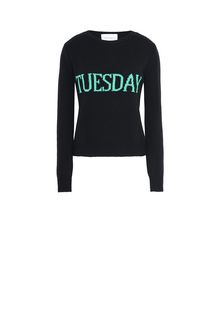 ALBERTA FERRETTI TUESDAY IN BLACK & GREEN KNITWEAR D e
