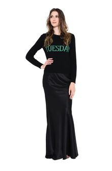 ALBERTA FERRETTI TUESDAY IN BLACK & GREEN KNITWEAR D f
