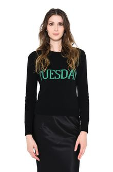 ALBERTA FERRETTI TUESDAY IN BLACK & GREEN KNITWEAR D r