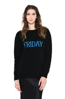 ALBERTA FERRETTI FRIDAY IN BLACK & BLUE KNITWEAR Woman r