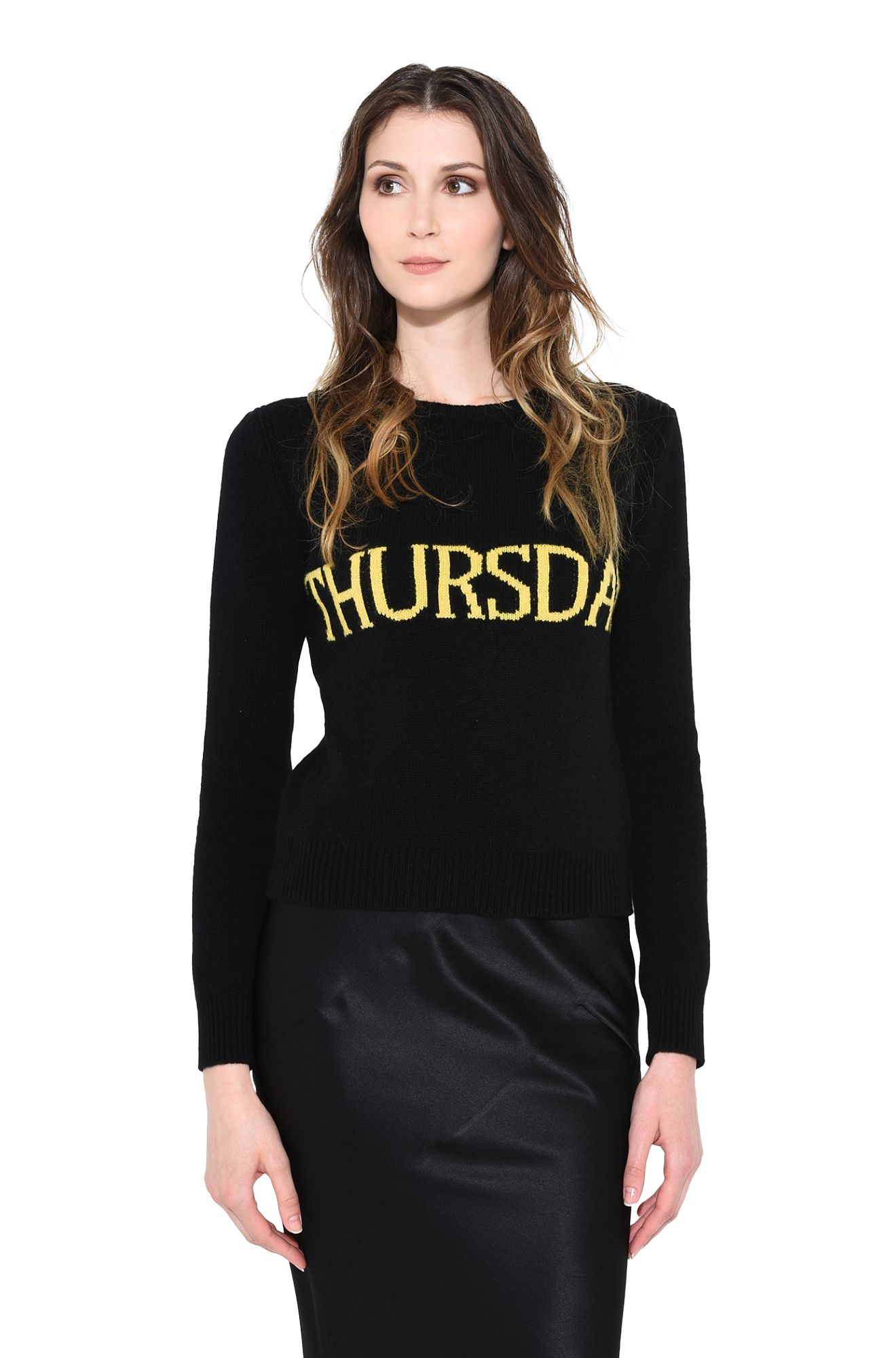 ALBERTA FERRETTI KNITWEAR D MONDAY IN BLACK & PINK r