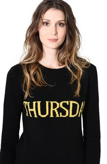 ALBERTA FERRETTI THURSDAY IN BLACK & YELLOW KNITWEAR D a