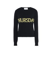 ALBERTA FERRETTI THURSDAY IN BLACK & YELLOW KNITWEAR Woman e