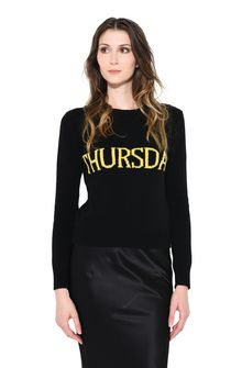 ALBERTA FERRETTI THURSDAY IN BLACK & YELLOW KNITWEAR D r