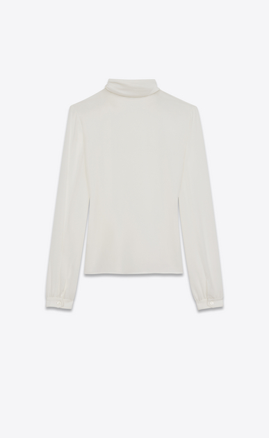 SAINT LAURENT Tops and Blouses D Scarf Blouse in Shell Silk Crêpe b_V4
