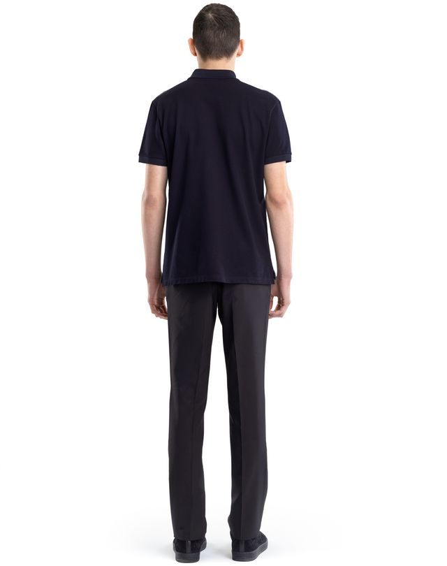 LANVIN TWEED-EFFECT MERCERIZED POLO SHIRT Polos & T-Shirts U d