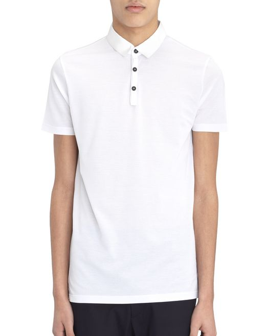 lanvin slim-fit piqué polo shirt men