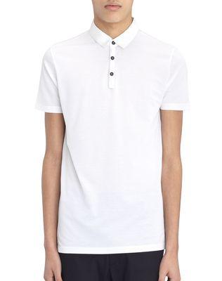 LANVIN SLIM-FIT PIQUÉ POLO SHIRT Polos & T-Shirts U f