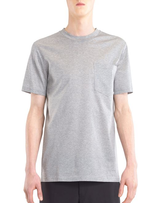 "lanvin t-shirt with ""l"" appliqué men"