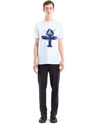 "LANVIN WHITE ""FLYING LOBSTER"" T-SHIRT Polos & T-Shirts U r"