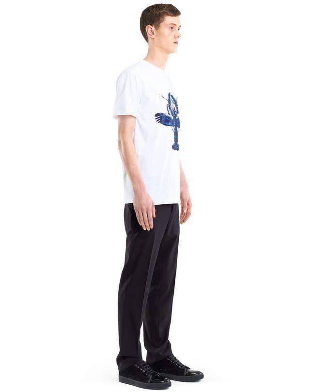 "LANVIN WHITE ""FLYING LOBSTER"" T-SHIRT Polos & T-Shirts U e"