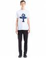 LANVIN Polos & T-Shirts Man WHITE PRINTED T-SHIRT f